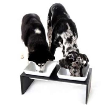 Wolters Cat&Dog 22561 Futterstation Meshidai Doppelnapf Größe M 2 x 0.9 liter, schwarz - 2