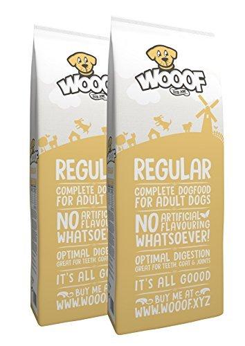 WOOOF Regular 30kg kaltgepresstes Hundefutter mit Rind, natürliche Zutaten, hoher Fleischanteil, leicht verdaulich, ohne Weizengluten, Trockenfutter - 1