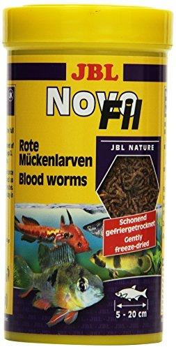 JBL NovoFil 30270 Ergänzungsfutter für wählerische Aquarienfische Rote Mückenlarven, 250 ml - 1