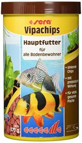 sera 00519 vipachips 1000 ml - Hauptfutter aus sinkenden Chips für alle Bodenbewohner im Aquarium - 1