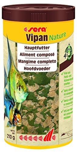 Sera Vipan Nature 1 l das natürliche Hauptfutter ohne Farb- und Konservierungsstoffe, 259 g - 1