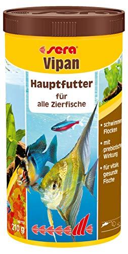 sera 00170 vipan 1000ml - der Klassiker - Hauptfutter für alle Zierfische in Gesellschaftsaquarien, Flockenfutter, für schönere und größere Fische - 1