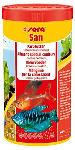 sera 00270 san 1000 ml - das Farbfutter aus schwimmenden Flocken - 1