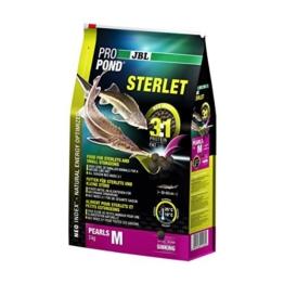 JBL Futter für Sterlets und kleine Störe, Sinkende Futterperlen, Spezialfutter, ProPond Sterlet, Größe M, 3,0 kg - 1