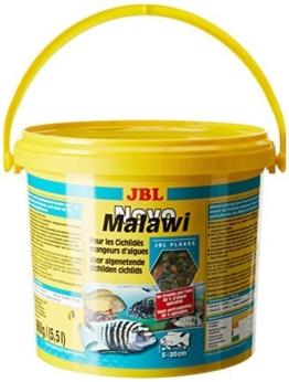 JBL NovoMalawi 30012 Alleinfutter für algenfressende Buntbarsche, Flocken 5,5 l - 1