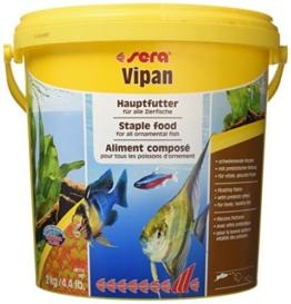 sera 00190 vipan (2 kg) 10 l der Klassiker Hauptfutter für alle Zierfische im Aquarium, Flockenfutter mit Präbiotika verbessert die Futterverwertung, damit geringere Wasserbelastung & so weniger Algen - 1