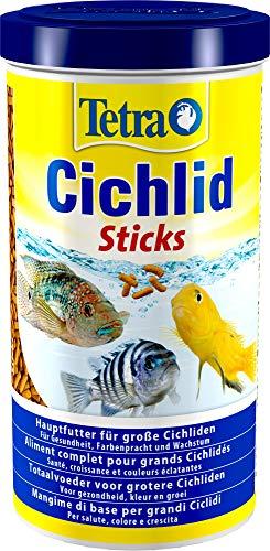 Tetra Cichlid Sticks (Hauptfutter für alle Cichliden und andere große Zierfische, schwimmfähige Futtersticks), 1 Liter Dose - 1