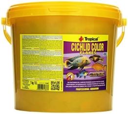Tropical Cichlid Color Flakes - farbverstärkendes Flockenfutter mit Beta-Glucan, 1er Pack (1 x 5 l) - 1